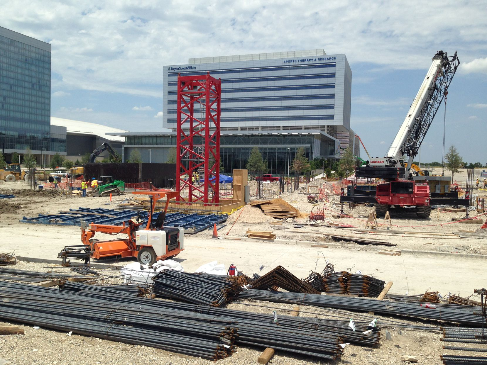 Construction has started on the Star House apartment tower at the Dallas Cowboys' complex in Frisco.