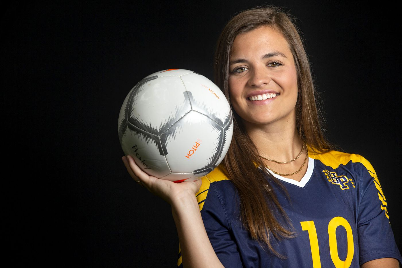 Highland Park senior soccer player Presley Echols poses for a portrait at her home in Highland Park on Tuesday, May 12, 2020. Echols is The Dallas Morning News Girls Soccer Player of the Year.