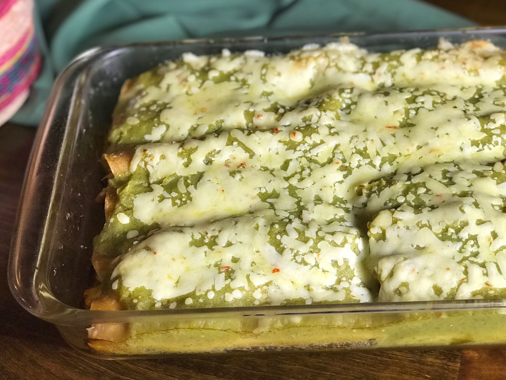 Chicken Enchiladas Verdes by Leslie Brenner