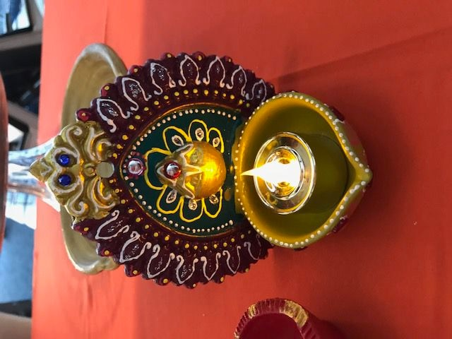 Part of celebrating Diwali includes using lights to ward off darkness and evil.