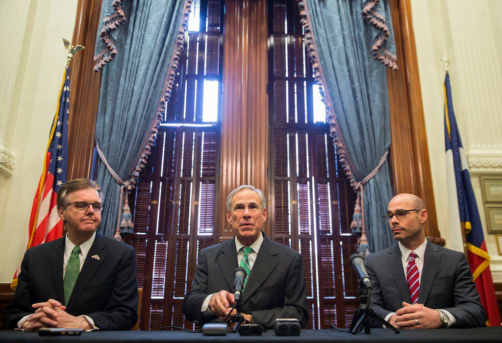 "Gov. Greg Abbott, Lt. Gov. Dan Patrick and Speaker Dennis Bonnen as well as chairmen for committees charged with studying property tax reforms spoke to the local news media during  a press conference Thursday morning about tax reform in Texas. On Sunday, Patrick said lawmakers must enact ""substantial property tax reforms"" or else call ""as many special sessions as it takes"" to do so. But Abbott and Bonnen have pushed back, saying they believe there's time enough to finish their work by the time they're supposed to gavel out on May 27, 2019."