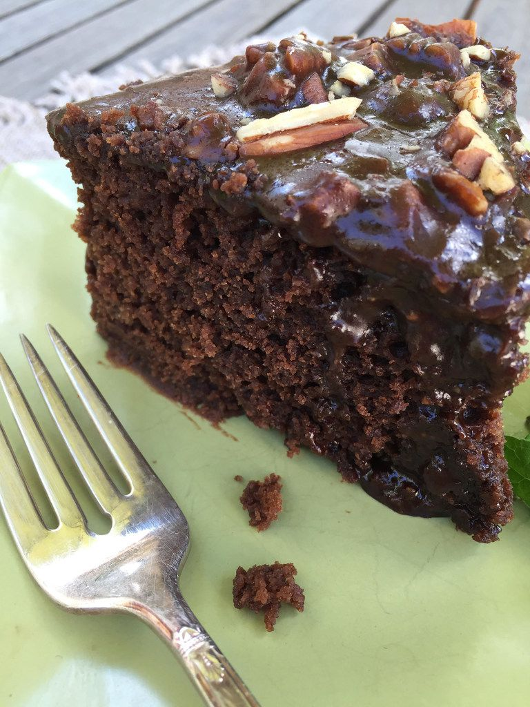Chocolate Sheet Cake, made in the slow cooker using a recipe from Texas Slow Cooker.