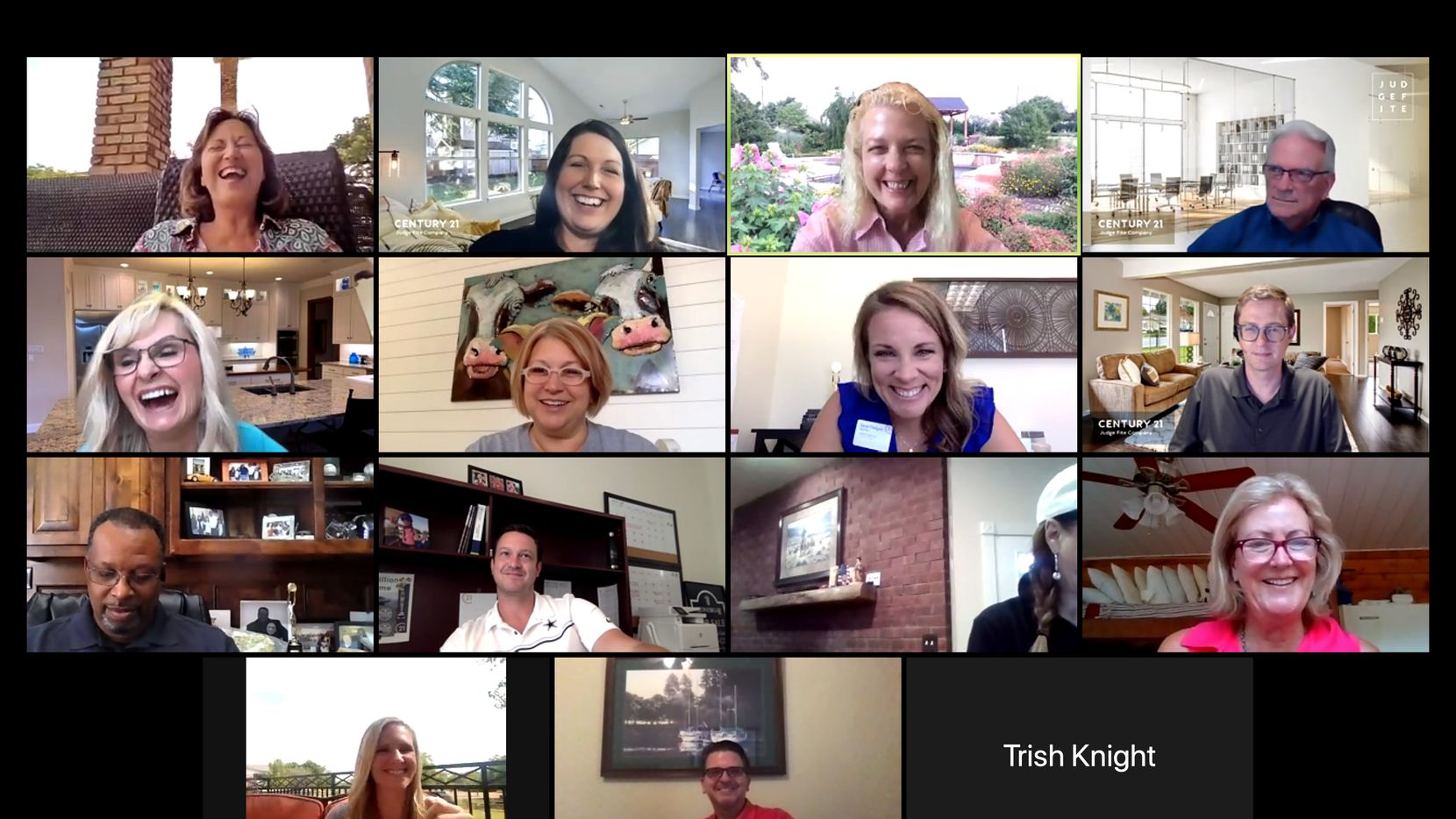 CENTURY 21 Judge Fite Company real estate agents gathered for a company happy hour via Zoom on Aug. 25.