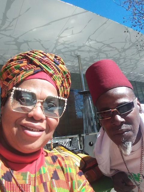 Afiah Bey and her husband, Abdul Malik Bey.