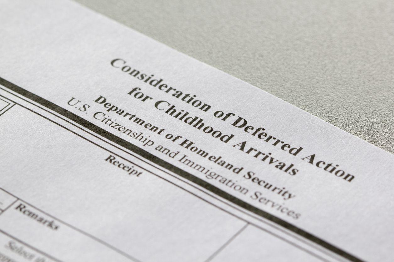 EL formulario I-821D, necesario para tramitar permiso de DACA.
