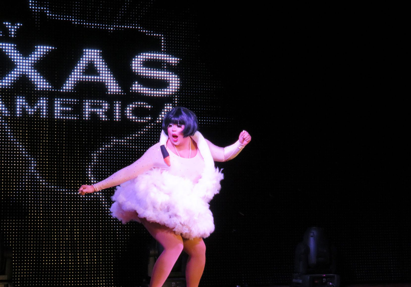 Houston drag queen Ivanna Cupcake performing during the talent competition