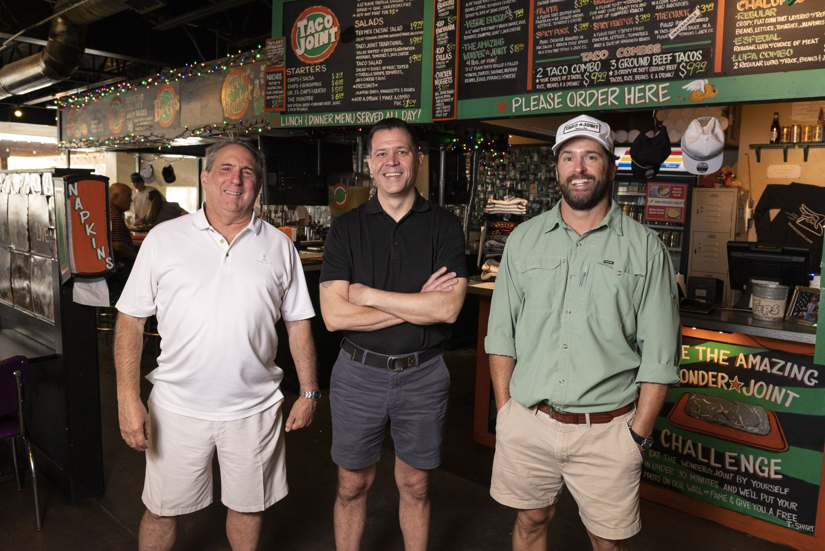 Taco Joint business partners David Catalano, left, Jeffrey Kowitz and Corey McCauley are poised to grow the business in 2021 more than ever before.