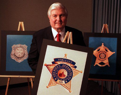 Dallas County Sheriff Jim Bowles introduced a new badge for the sheriff's office in 1997.