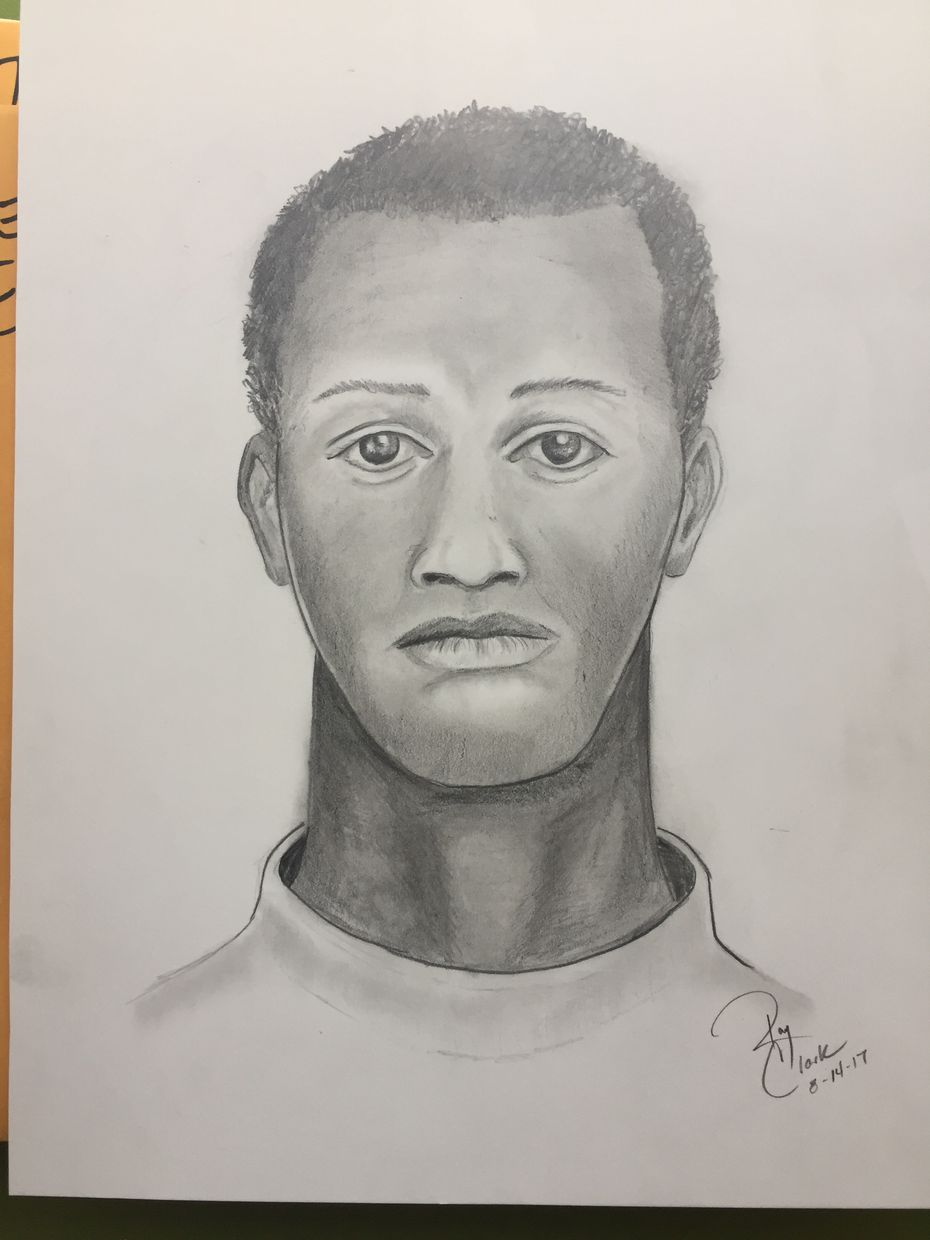 A sketch of the suspect who attacked and sexually assaulted a woman outside a Fort Worth club