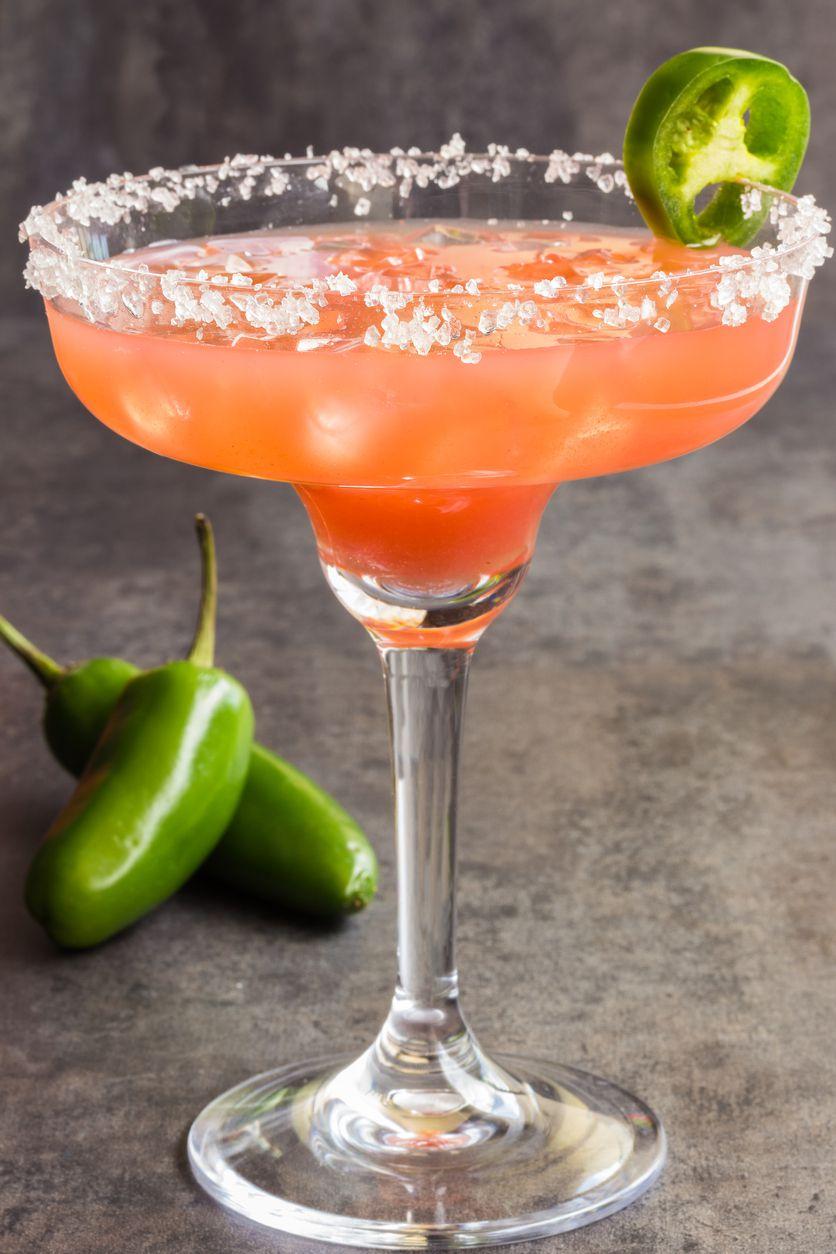 Spicy margarita con tequila blanco.