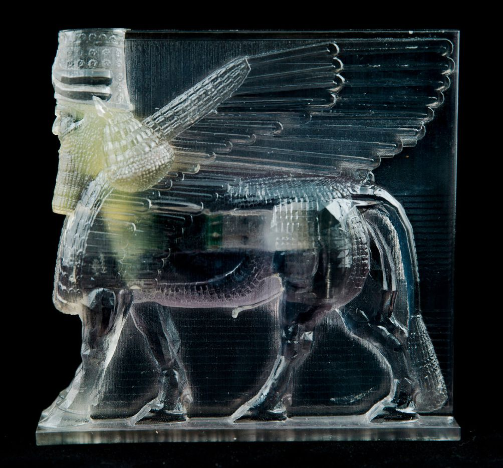 """Artist Morehshin Allahyari used 3D printing to reconstruct Iraqi and Syrian cultural artifacts destroyed by ISIS in her acclaimed project """"Material Speculation: ISIS."""""""