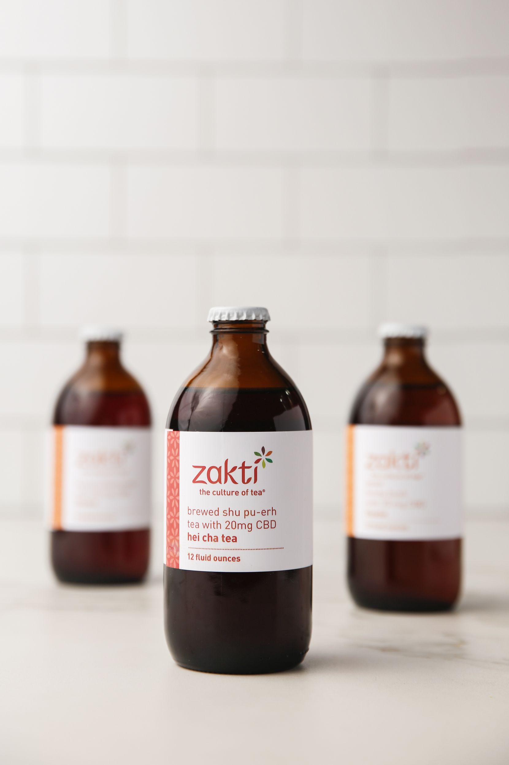 CBD-infused tea from Zakti comes in six varieties. (Ryan Michalesko/The Dallas Morning News)