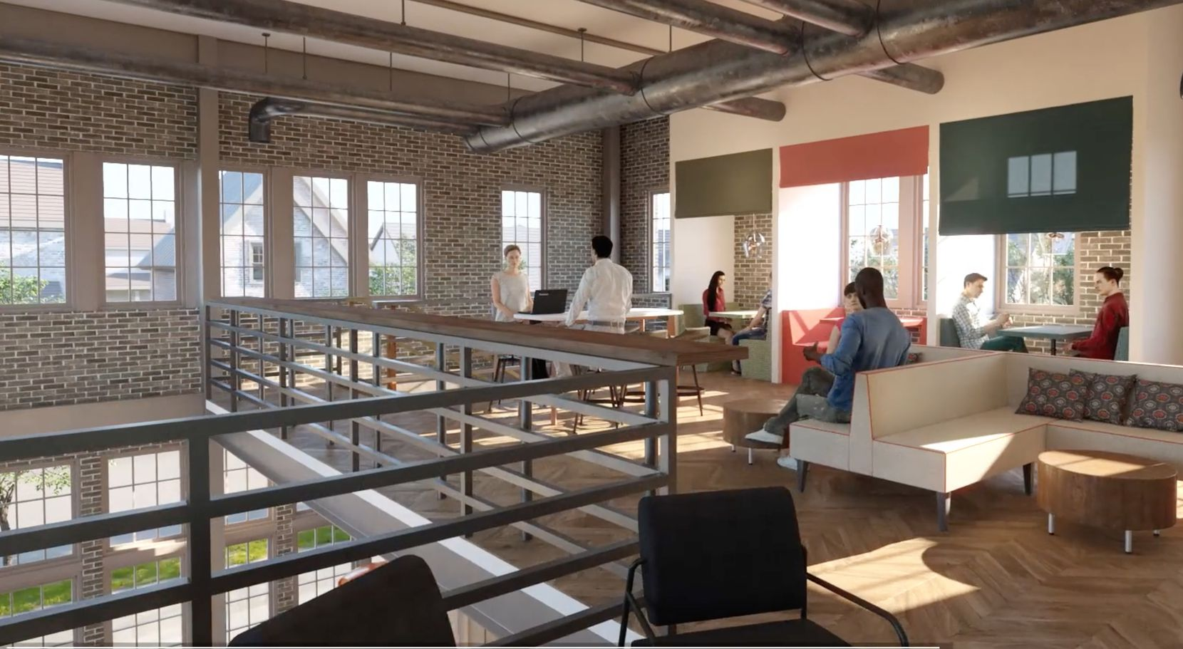The first phase of Pecan Square will include a coworking office center.