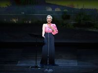 Mezzo-soprano Joyce DiDonato joins conductor Emmanuel Villaume and the Dallas Opera Orchestra at the Winspear Opera House in Dallas, Texas on May 10, 2021.