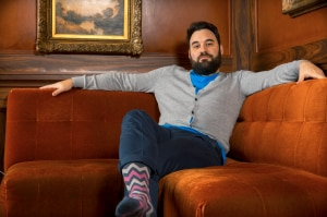 Bryan DeLuco co-founder of Foot Cardigan