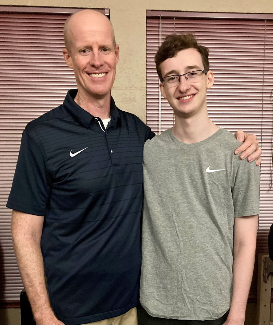 The author, Matt Wixon (left) dropped off his son Ryan Wixon at his alma mater.