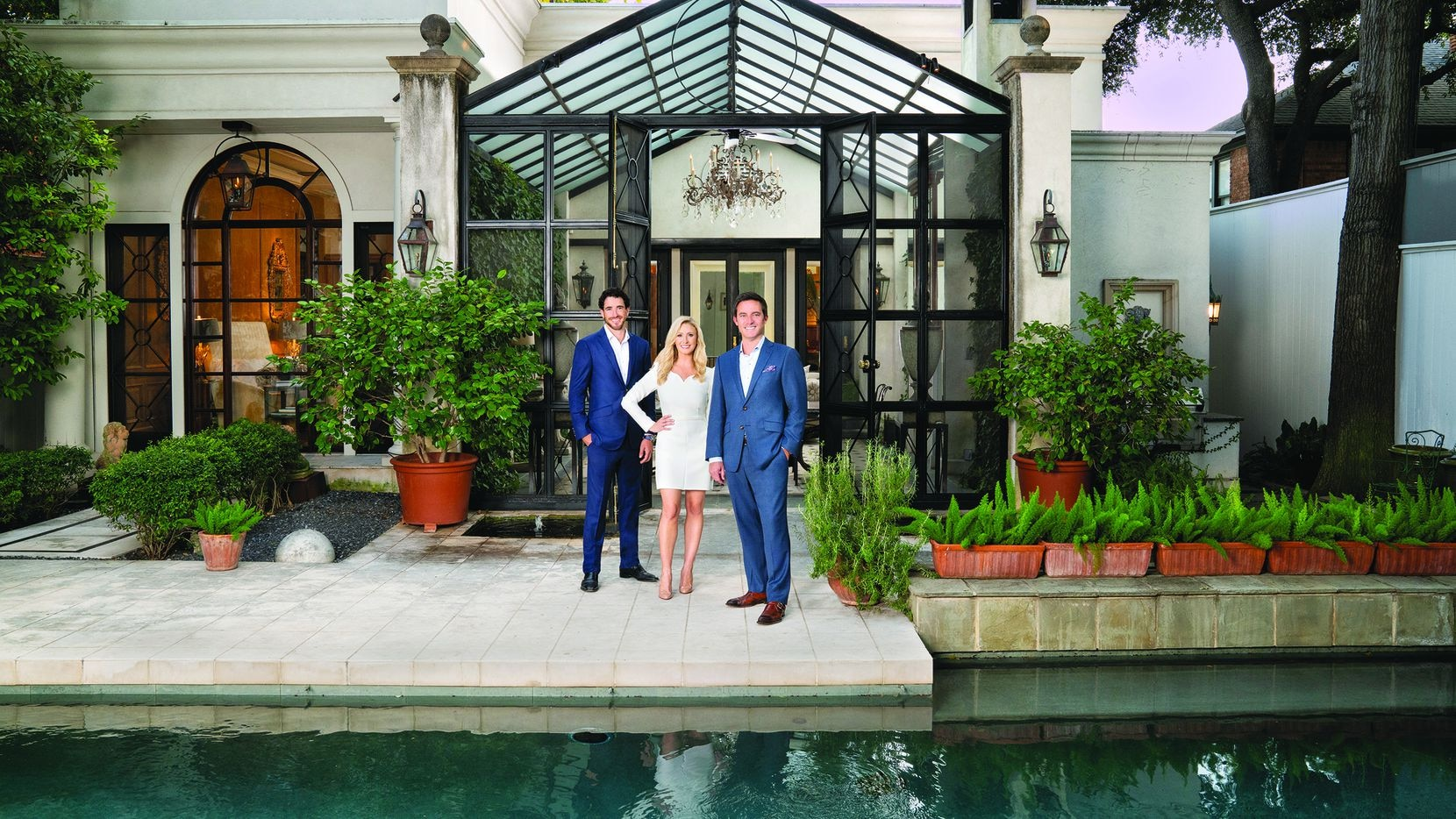 From left, Alex Perry and partners Elizabeth Wisdom and Chad Barrett were the top-selling team in Dallas in 2020, notching more than $220 million in sales.