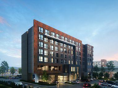 Tempo Las Colinas, shown in a rendering, will open in 2024, according to Hilton.
