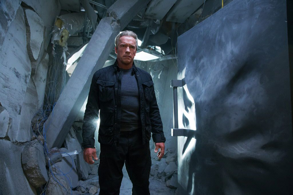 "This photo provided by Paramount Pictures shows Arnold Schwarzenegger as the Terminator in ""Terminator Genisys,"" from Paramount Pictures and Skydance Productions."