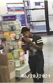 This image shows a suspect in an incident at a post office on Kiest Boulevard in east Oak Cliff.