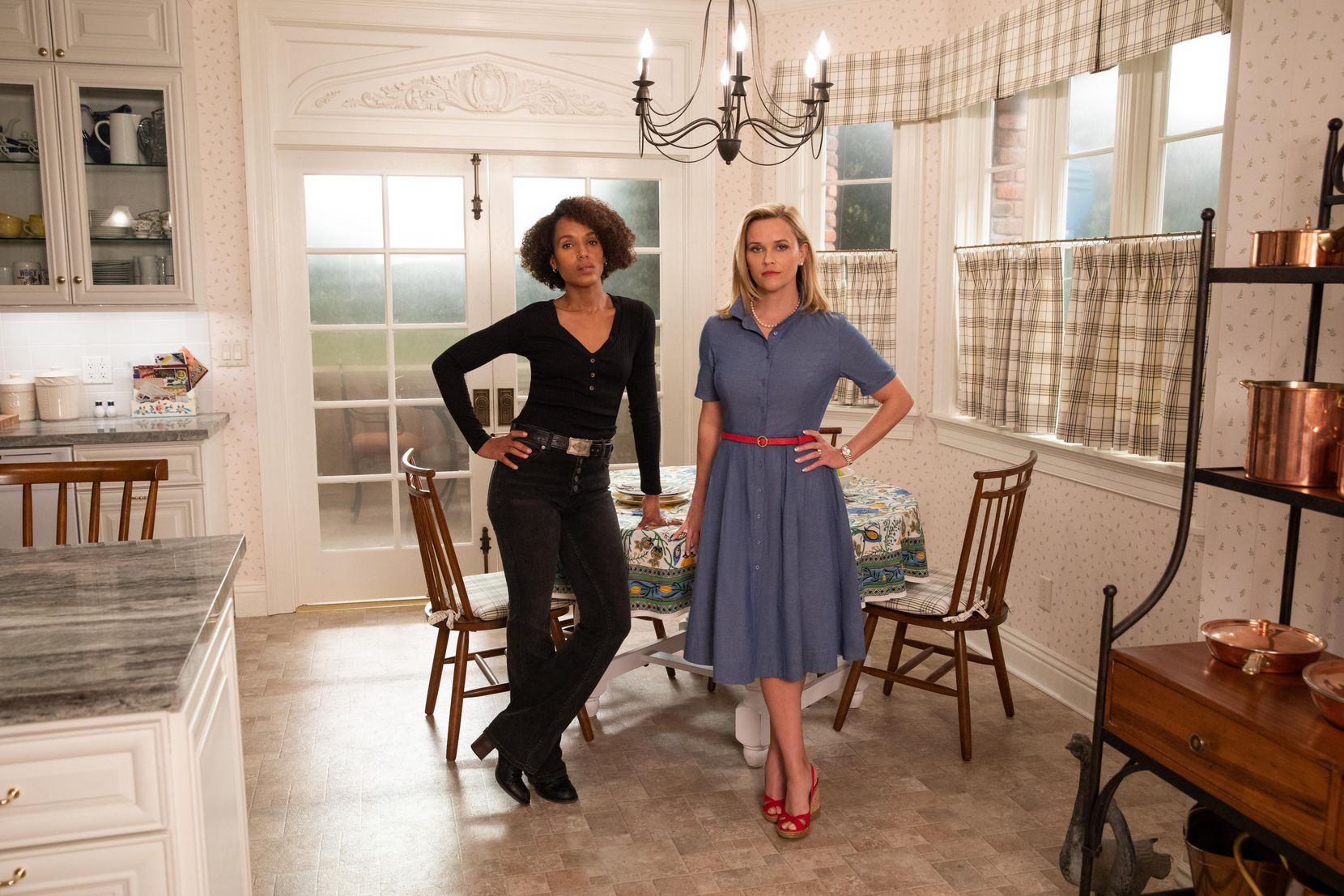 """Kerry Washington, left, and Reese Witherspoon, from """"Little Fires Everywhere."""""""
