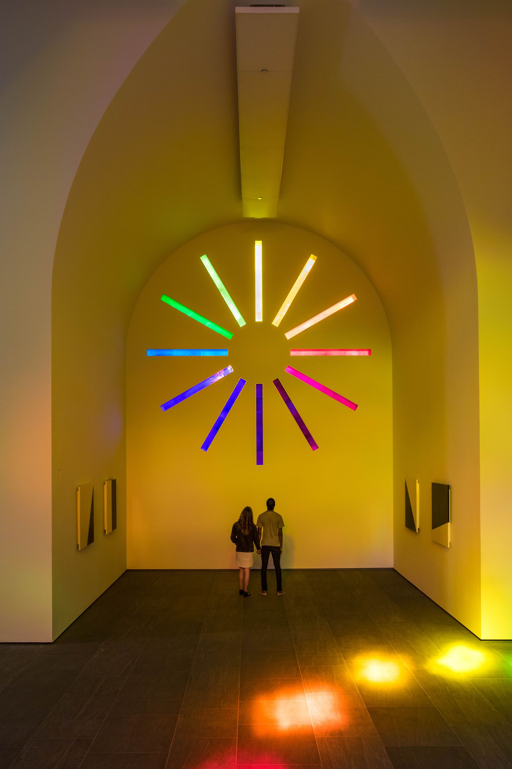 """""""Austin,"""" a 2,715-square-foot granite chapel designed by New York painter and sculptor Ellsworth Kelly before his death in 2015, is awash in ever-shifting colors."""