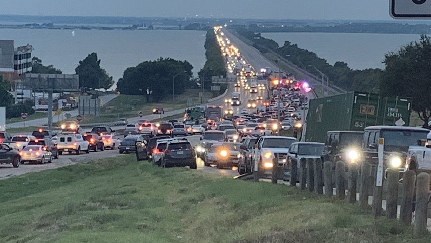 Rockwall police said the multi-vehicle accident Monday evening on Interstate 30 resulted in serious injury.