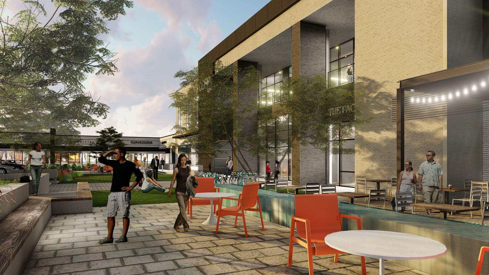 Prestonwood Place's redo will include new public areas.