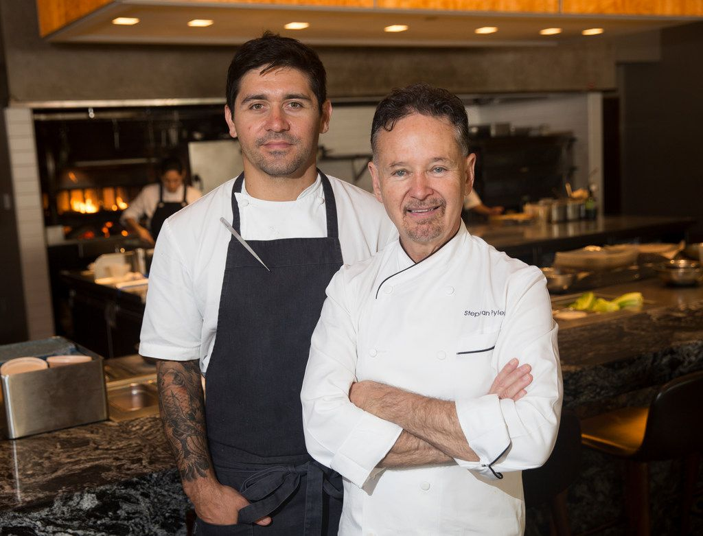 Fauna chef Diego Fernandez, left, and chef Stephan Pyles