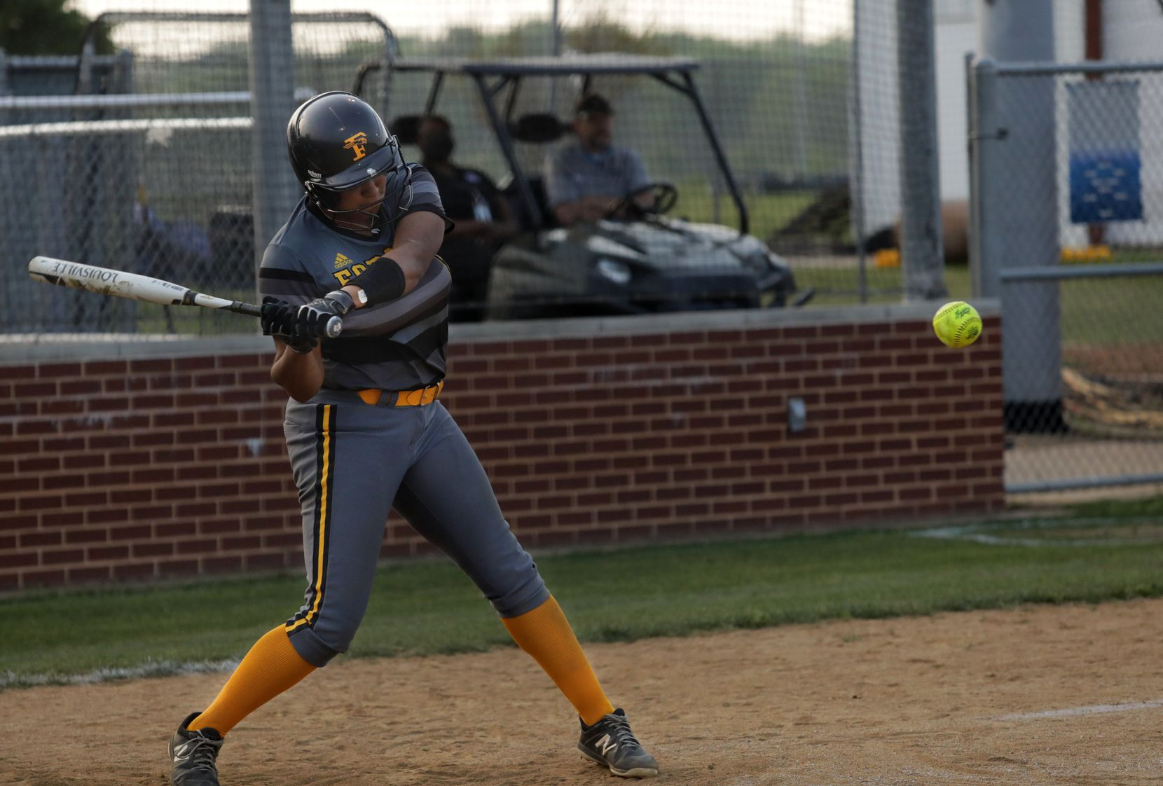 Vanessa Hollingsworth swings for the ball during a softball game between Forney at North Forney at North Forney High School in Forney, TX, on Apr. 9, 2021. (Jason Janik/Special Contributor)