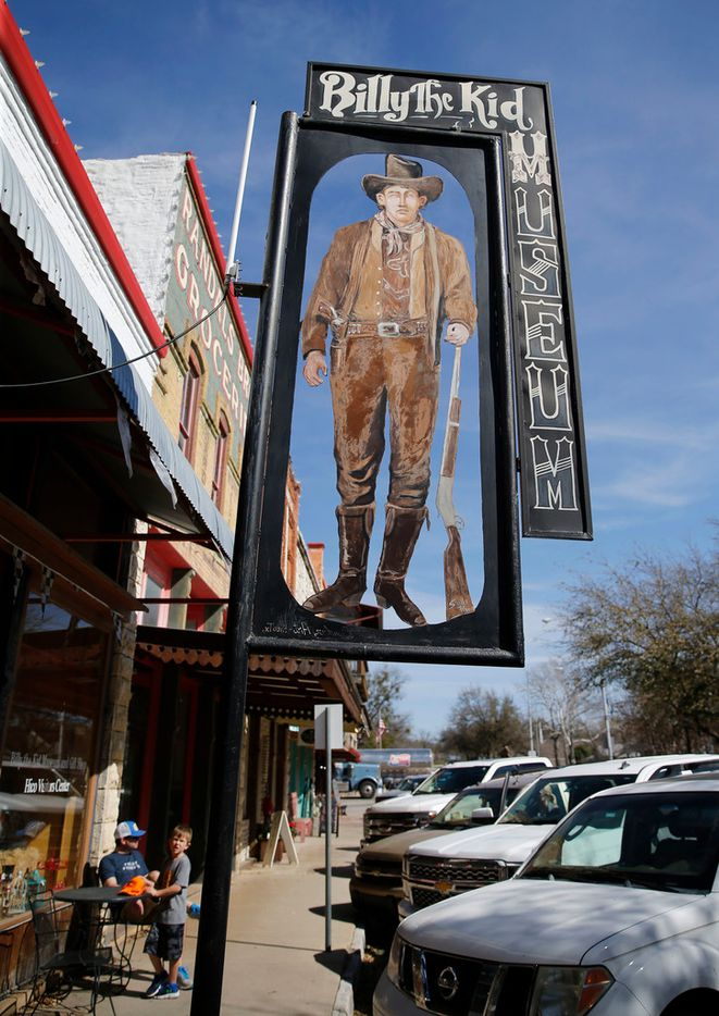 Exterior of the Billy the Kid Museum on Pecan street in Hico.