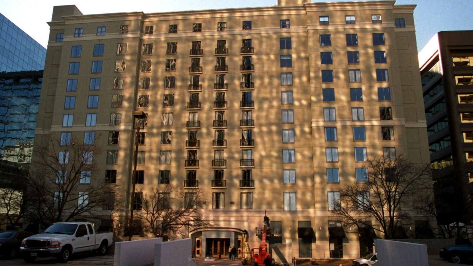 The Dallas/Park Cities Hilton Hotel on Luther Lane. is getting a makeover.