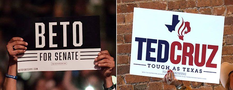 In this heated midterm, people have noticed all kinds of things about the Beto O'Rourke and Ted Cruz campaign logos. People have compared O'Rourke's logo to Whataburger's spicy ketchup label and the Cruz teardrop to the logos of The Onion and Al Jazeera. Whataburger was a coincidence and the Cruz logo is a flame.