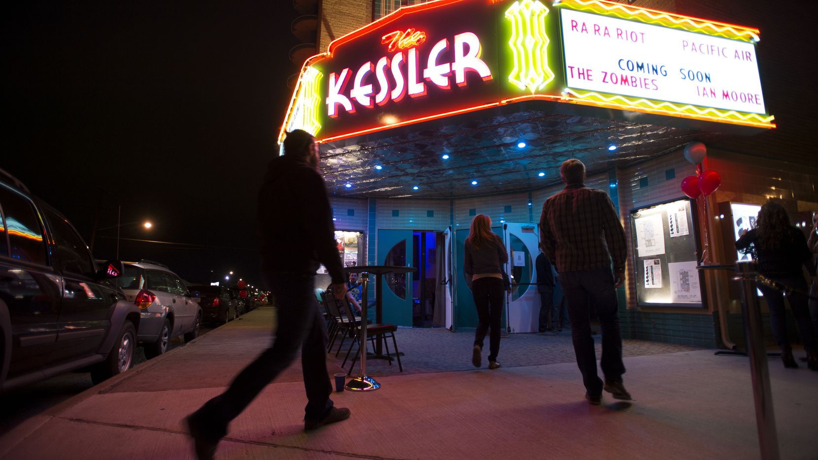 Patrons arrive at the Kessler Theater in 2013. A newly proposed program would let music venues like it — with capacities less than 3,000 — apply for tax rebates.