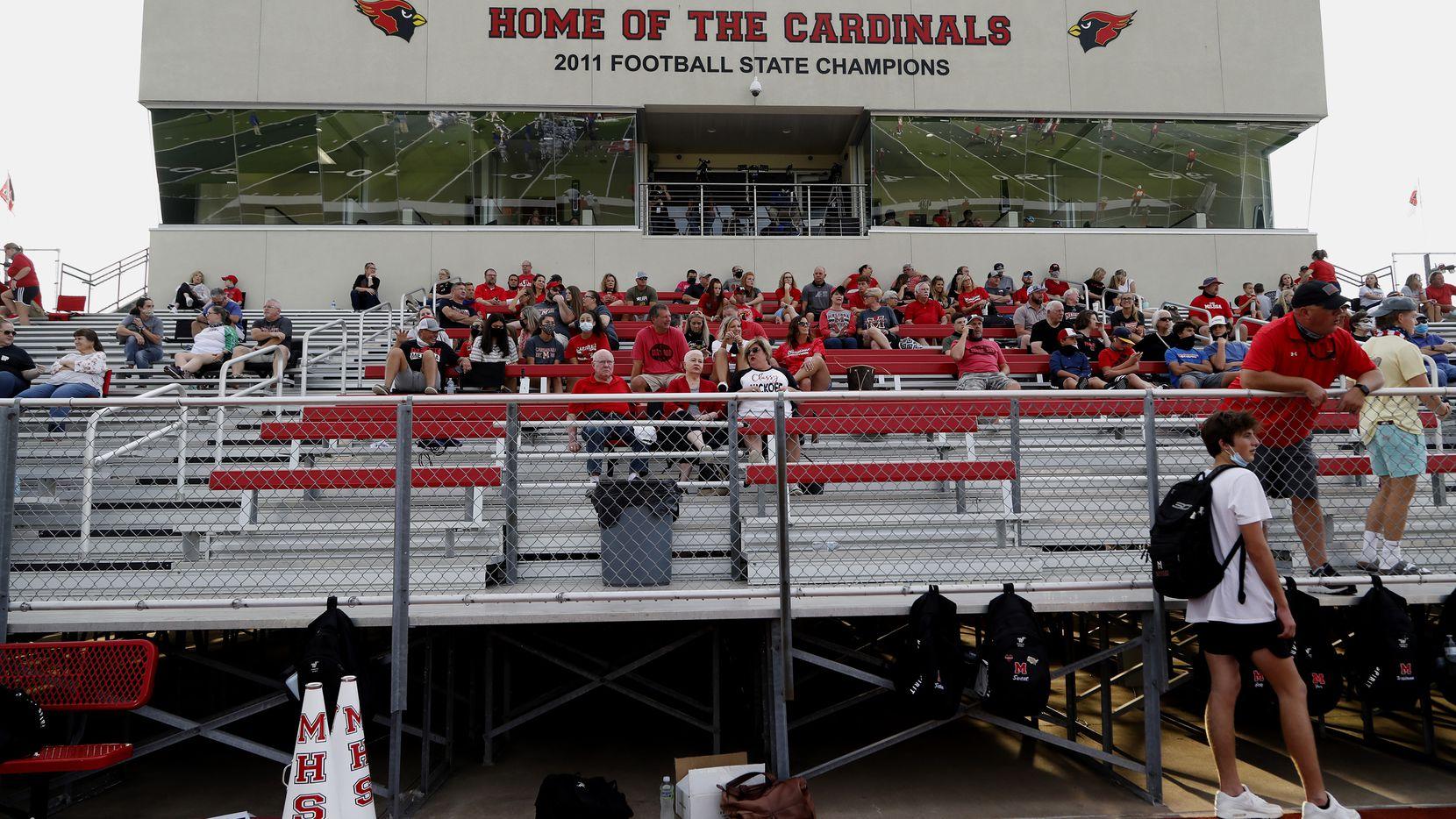 The Melissa High School fans wait for kickoff as Melissa High School hosted Sunnyvale High School at Melissa I.S.D. Stadium on Friday night, September 4, 2020.
