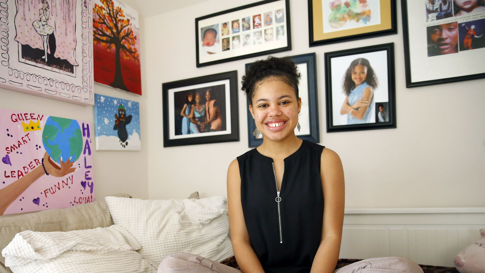 Teen phenom Haley Taylor Schlitz, 16, who graduated from high school at 13, is preparing to attend Southern Methodist University's Dedman School of Law this fall, one of nine schools that accepted her, according to the American Bar Association. The Keller, Texas teenager had an accelerated education following her graduation from home schooling in 2013. She since attended Tarrant County College and then Texas Woman's University.  She is photographed at her family's home, Saturday, March 23, 2019.