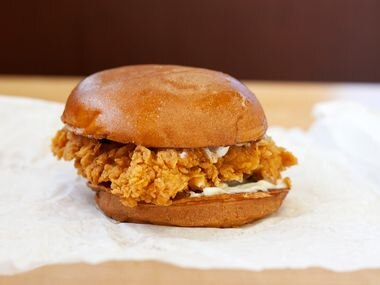 Popeyes' chicken sandwich was pulled from restaurants in late August after they ran out of supply. Despite the fervor over this popular sandwich, it always seems to be photographed about like this: simple and sloppy.