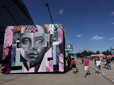 Art on display during Kaaboo Texas at AT&T Stadium in Arlington in this May 12, 2019 file photo. There's much more to Arlington's arts scene than what you'll find at AT&T Stadium, as a community pop-up show downtown this weekend should demonstrate.