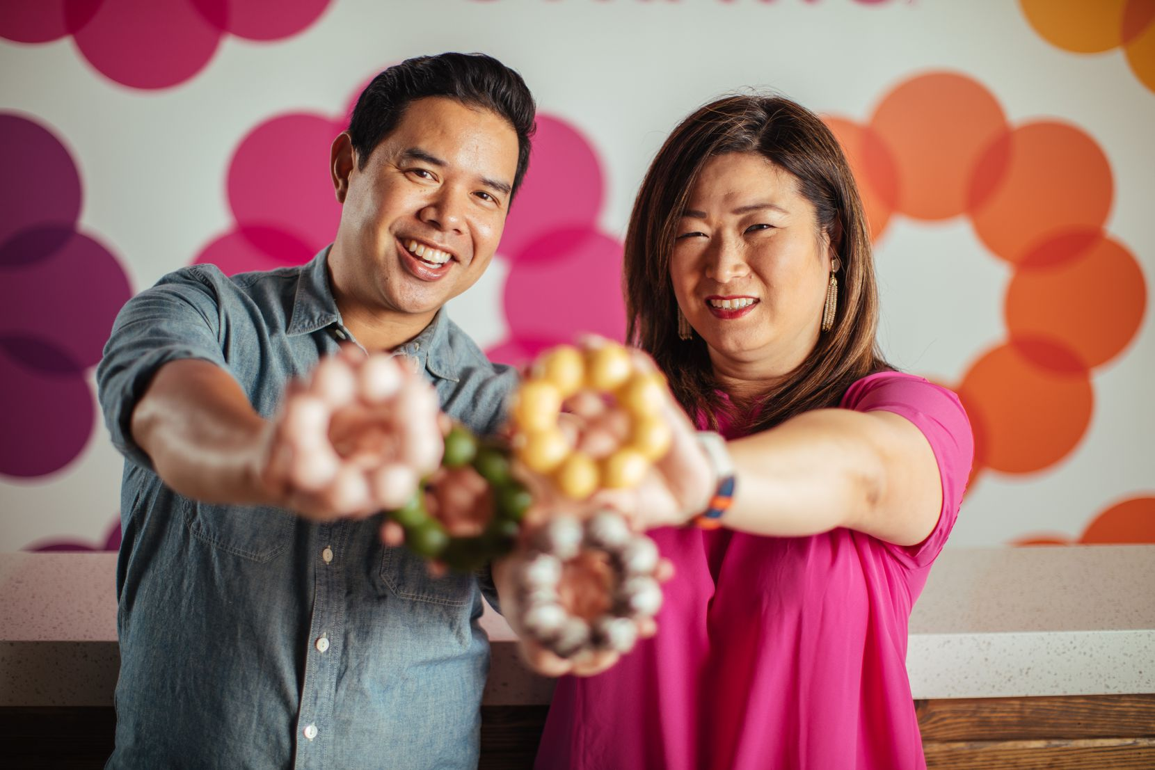 Terry and Jennifer Pham are the owners of four Fat Straws, including the new Richardson location.