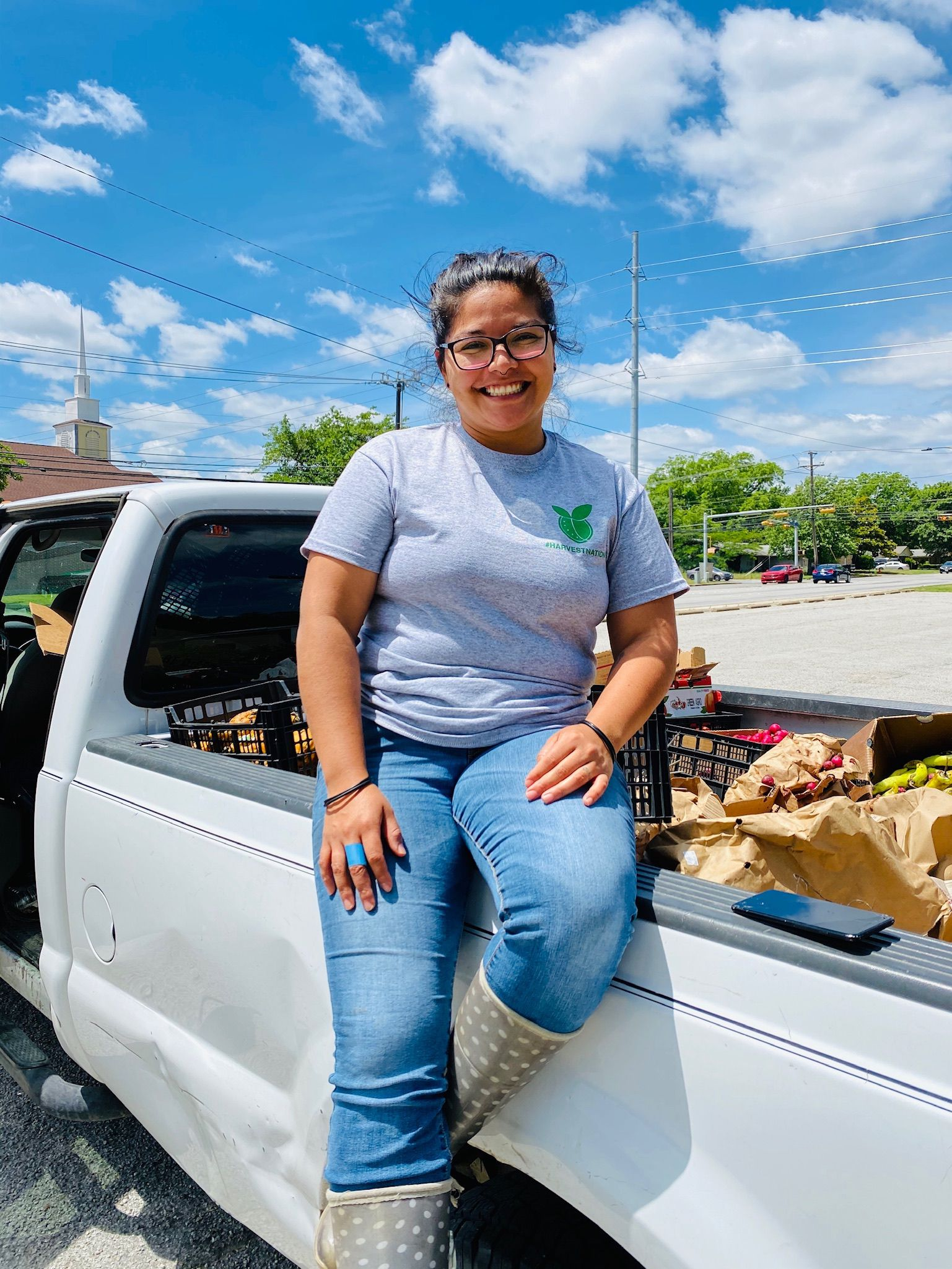 Danae Gutierrez is the founder and executive director of Harvest Project Food Rescue in Dallas.