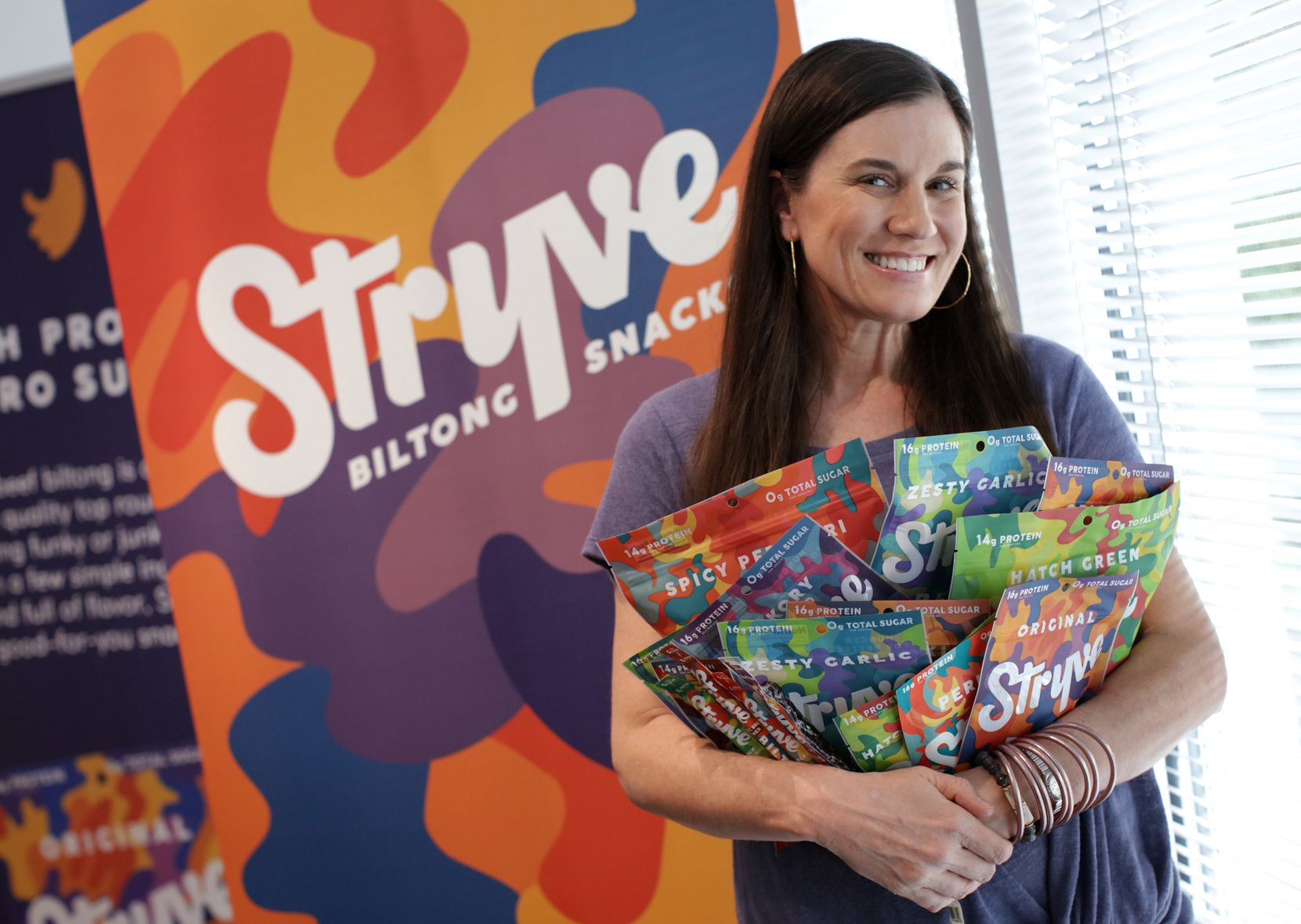 Jaxie Alt poses for a photograph at Stryve's new office space in Plano, TX, on Jan. 15, 2020. (Jason Janik/Special Contributor)