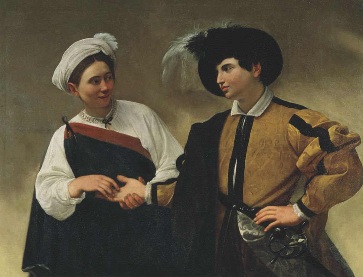 The Gypsy Fortune Teller, c. 1595, oil on canvas by Caravaggio