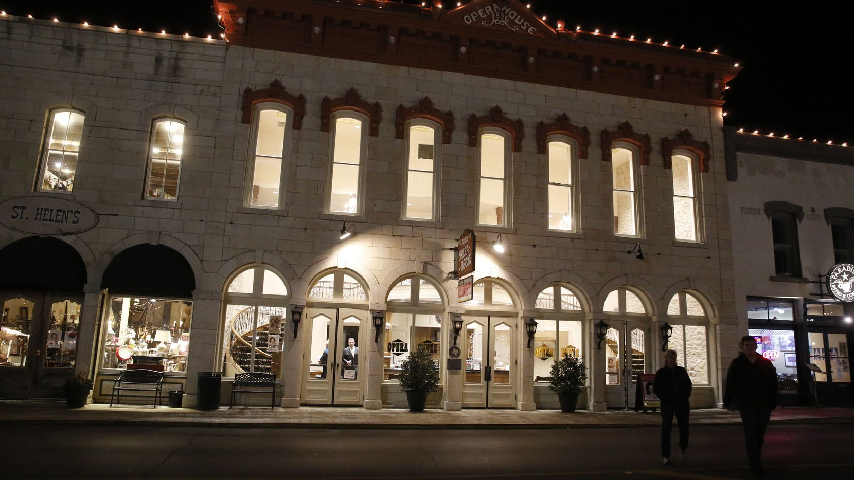 The Granbury Opera House appears in this Jan. 16, 2016 file photo, in Granbury, Texas. On Wednesday, the Granbury Theatre Company, which performs in the venue, suspended operations after cast and crew members of the company's recent production of 'Legally Blonde' tested positive for COVID-19.