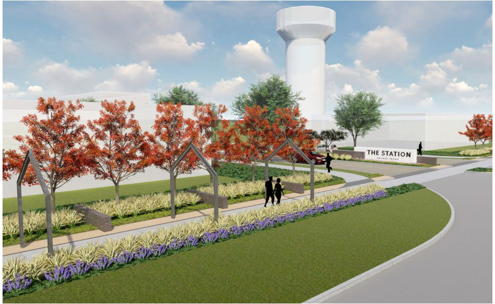 The Station mixed-use project in Sachse will start construction this week.