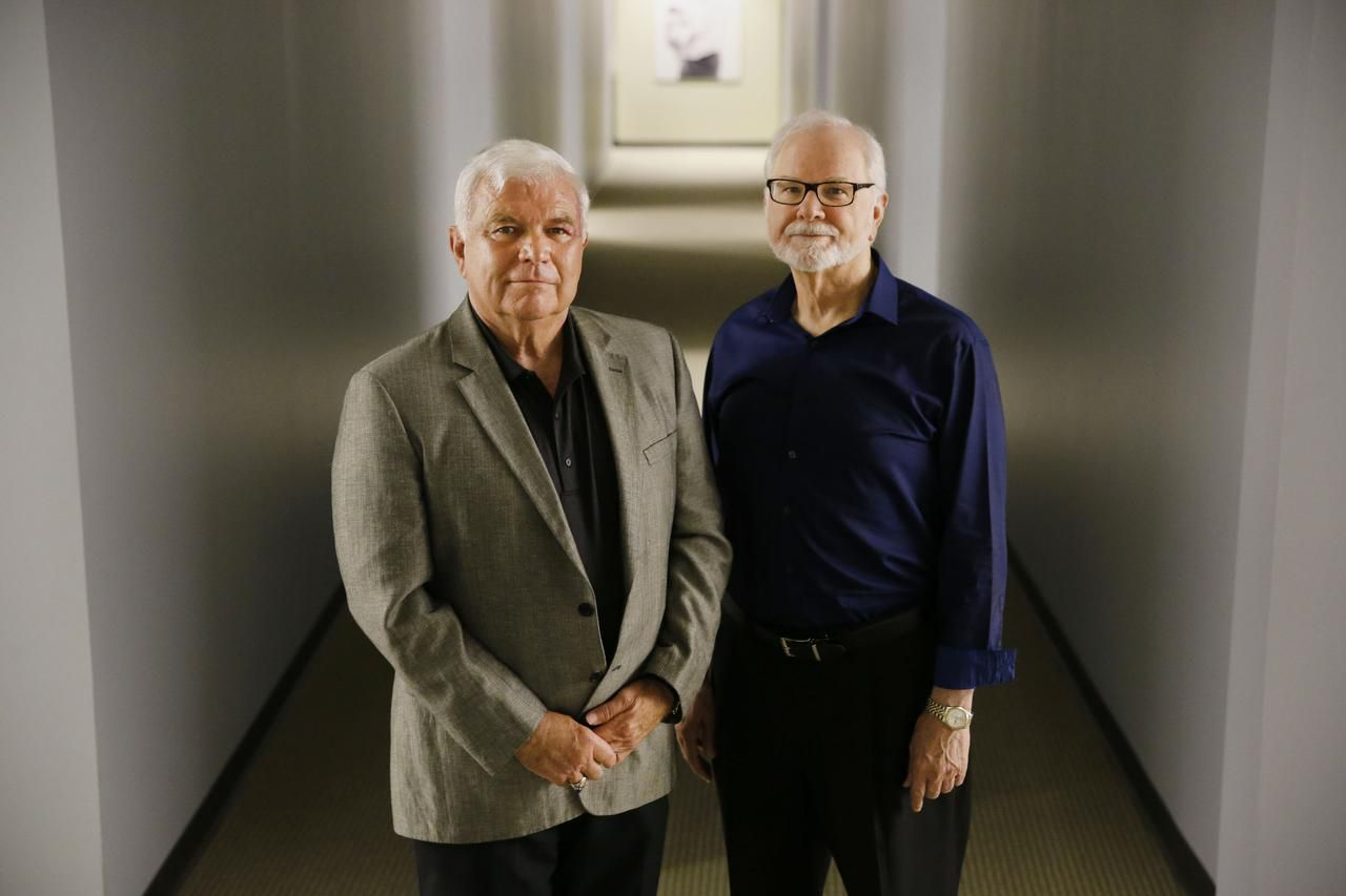 """Bob Maguire (left) and Neil Thomas volunteer"""" in a national program called """"Senior Medicare Patrol,"""" which helps Medicare recipients and beneficiaries become aware of Medicare fraud practices."""