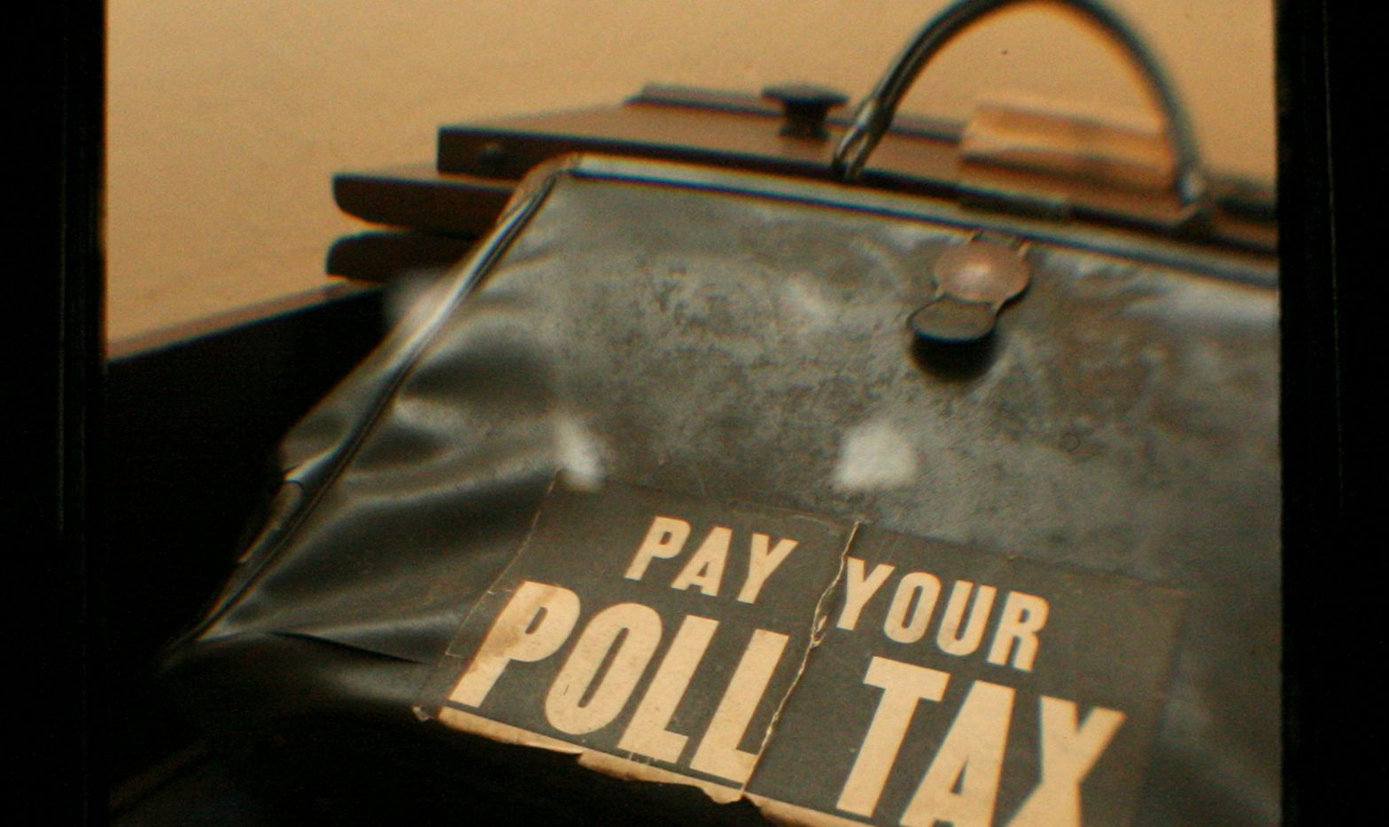 Civil rights activist Juanita Craft's poll tax purse was on display at her former home in Dallas on Feb. 4, 2007.