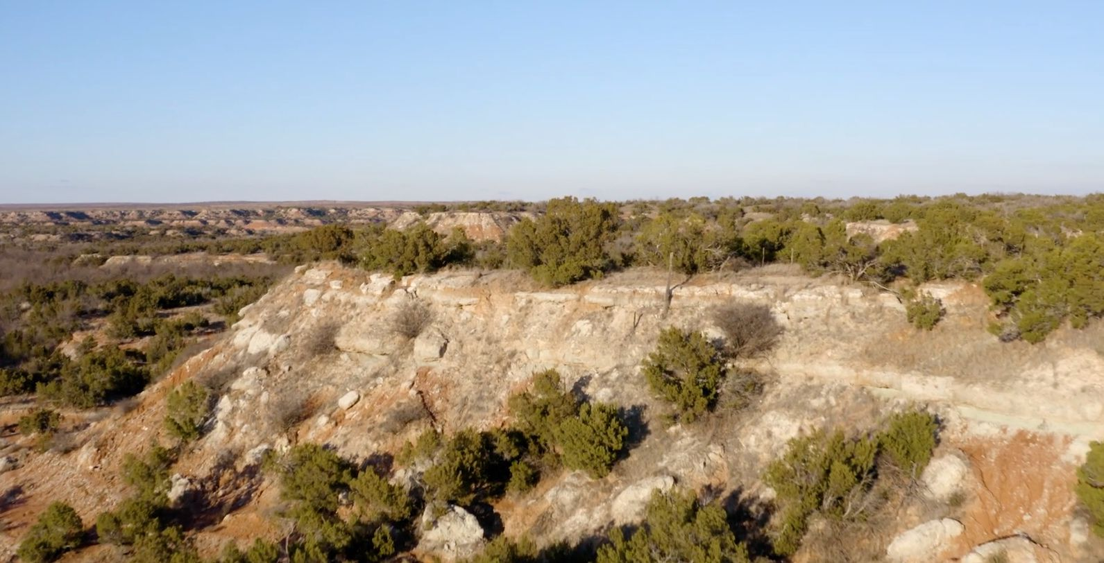 The Caloosa Ranch stretches across 14,500 acres in Stonewall County northwest of Fort Worth.
