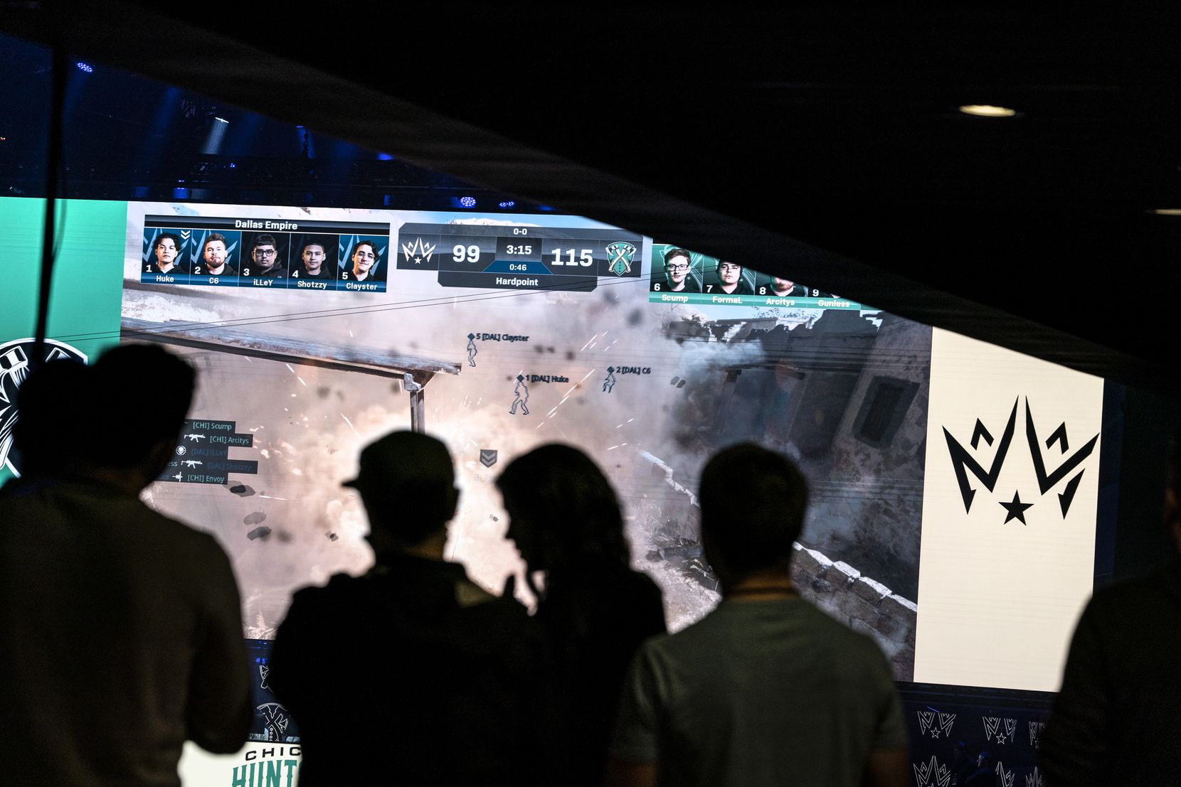 Fans watch Dallas Empire compete against Chicago Huntsmen in the Call of Duty League Launch Weekend at the Armory in Minneapolis, Minn., January 24, 2020.