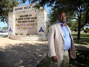 Riakos Adams, secretary of the Killeen chapter of the NAACP,  is among those calling for Fort Hood, the military post named for Confederate Gen. John Bell Hood, to be renamed. (Rose Baca/Staff Photographer)