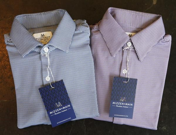 Mizzen+Main dress shirts for men are sold online and in boutiques, including Warehaus in Dallas.